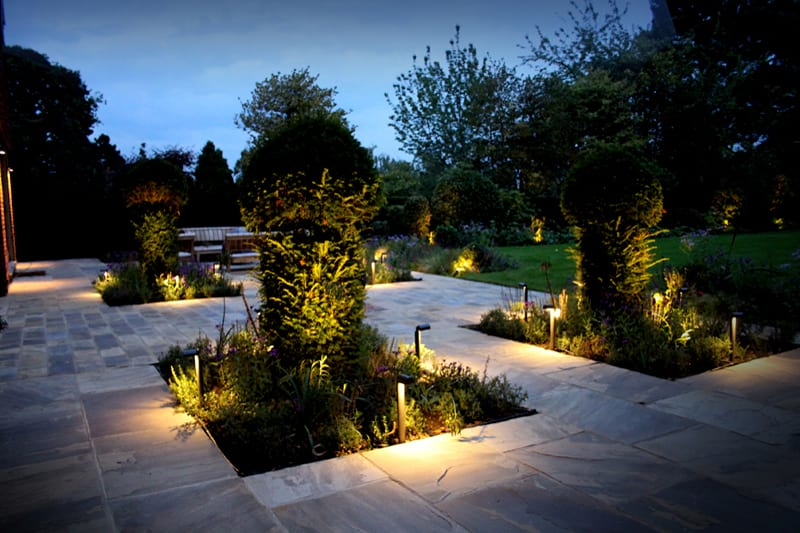 Almost As Much Of Ogl S Work Is In Elished Gardens It New Designs The Important Factor Then Installing Discreet Effective Lighting