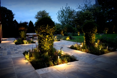 Esher New House Build Garden Lighting Project