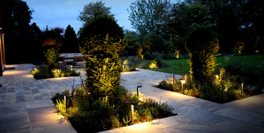 esher new house build garden lighting project - Garden Lighting