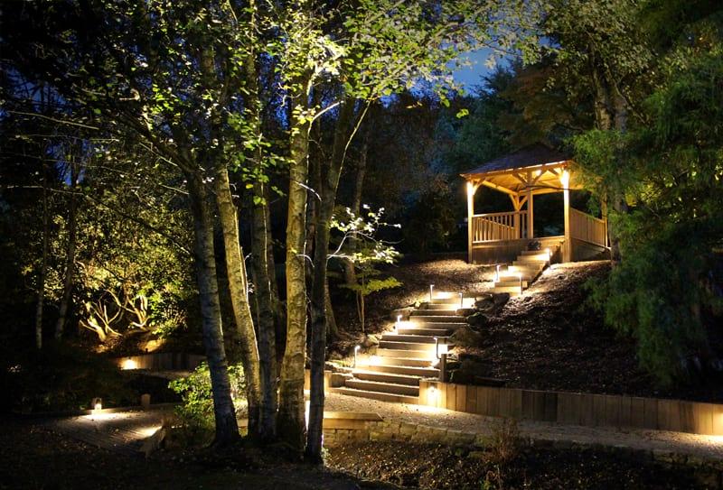 Woodland Walk Outside Lighting Surrey Ornamental Garden