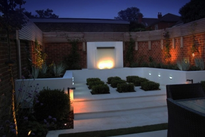 Town Garden Lighting Design With Step Lighting & Case Studies - Ornamental Garden Lighting